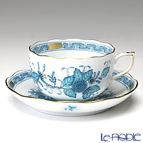 ヘレンド インドの華ターコイズ 00724-0-00/724 ティーカップ&ソーサー 200cc