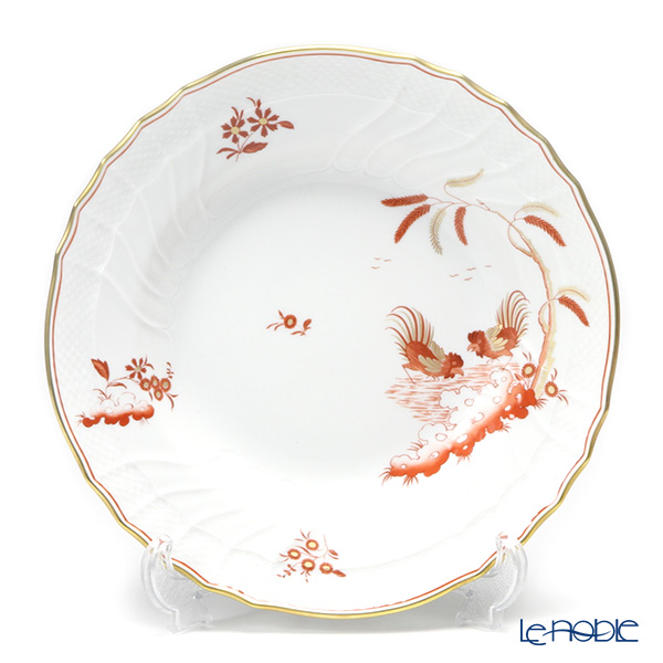 Richard Ginori Galli Rossi / Red Cock (Red Rooster) Soup Plate 24cm