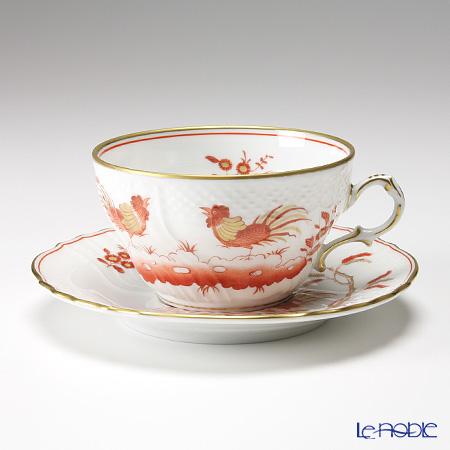 Richard Ginori 'Galli Rossi (Red Cock) / Vecchio' Tea Cup & Saucer 240ml