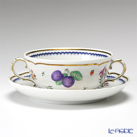 ( Richard Ginori  Ginori Italian Fruits Soup Cup & saucer