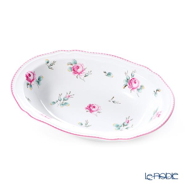 Richard Ginori Amalfi / Antique Rose Oval Deep Plate 22.5x15.5cm