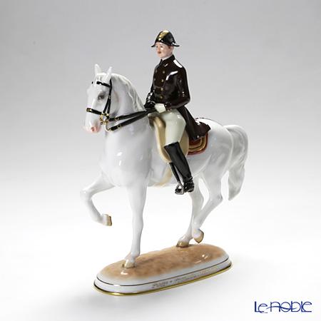 アウガルテン(AUGARTEN) フィギュリン(011210)スペイン乗馬学校 リズミカル 23.5cm 1590