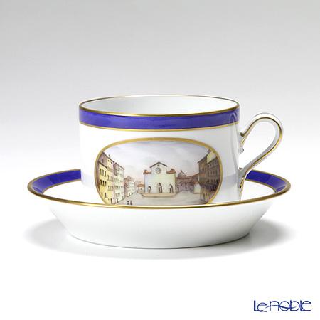 Richard Ginori Vedute Firenze Tea Cup & Saucer 220 cc