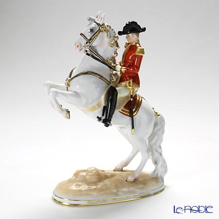 アウガルテン(AUGARTEN) フィギュリン(011210) スペイン乗馬学校 クールベット 28cm 1595