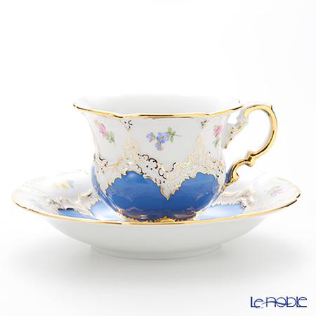 マイセン(Meissen) 宮廷の小花 016098/15582 コーヒーカップ&ソーサー 200cc(青金彩)