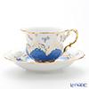 マイセン(Meissen) 宮廷の小花 016098/15582コーヒーカップ&ソーサー 200cc(青金彩)
