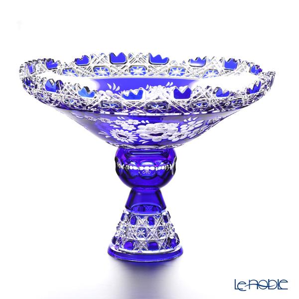 マイセン(Meissen) マイセンクリスタル MFO172/1055/26B 足つきボウル(ブルー) 26cm