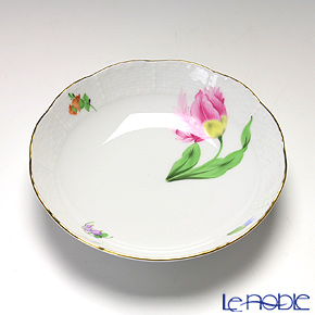 Herend 'Tulip Flower Pink / Kitty' KY-2 00704-1-00 Fruit Bowl 13.5cm