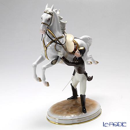 アウガルテン(AUGARTEN) フィギュリン(011210) スペイン乗馬学校 跳躍(カブリオレ) 30cm 1833