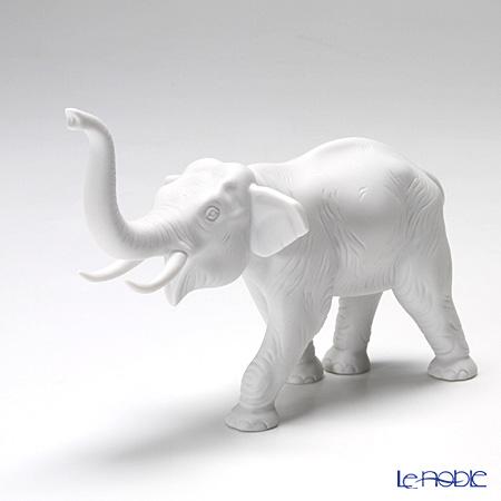 Augarten 'Animal - Bull Elephant' White Figurine H8.5cm