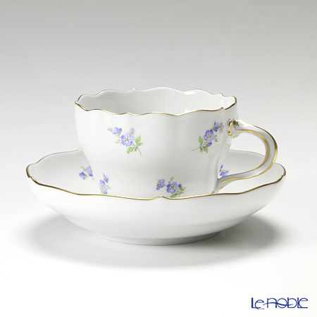 マイセン(Meissen) スキャタードフラワー/忘れな草 019310/00582コーヒーカップ&ソーサー 200cc
