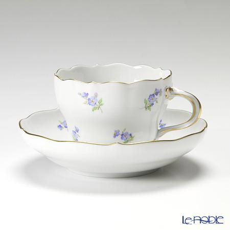 マイセン(Meissen) スキャタードフラワー/忘れな草 019310/00582 コーヒーカップ&ソーサー 200cc