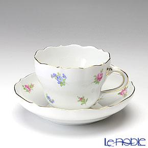 マイセン(Meissen) スキャタードローズ/忘れな草 019510/00582 コーヒーカップ&ソーサー 200cc