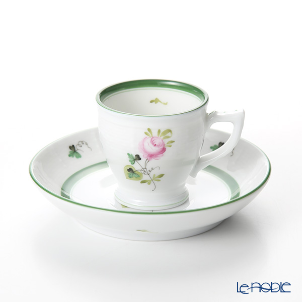 Herend 'Vienna Rose / Vieille Rose de Herend' VRH 00729-0-00 Mocha Coffee Cup & Saucer 50ml