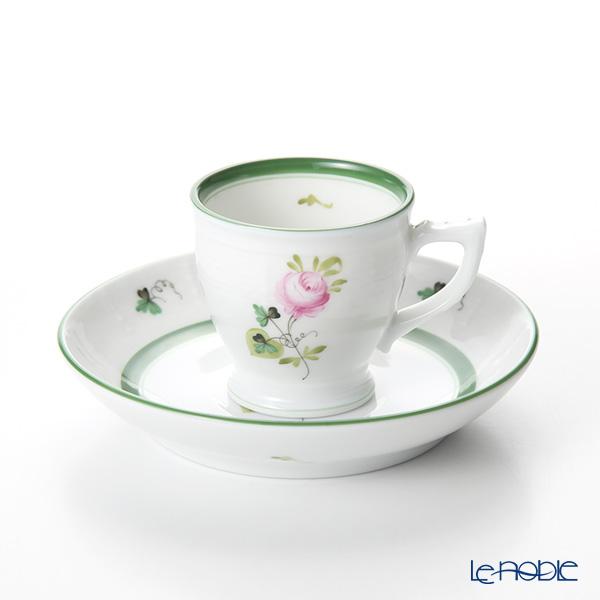 ヘレンド ウィーンのバラ 00729-0-00 モカカップ&ソーサー 50cc