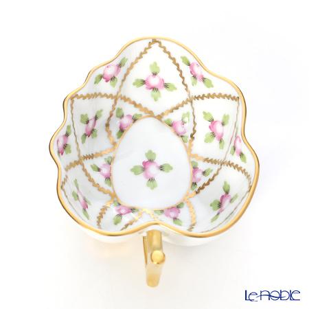 Herend Sevres Roses / Sevres Petites Roses en Or Grand SPORG 02492-0-00 Sugar Bowl (Leaf shape) 10.5cm