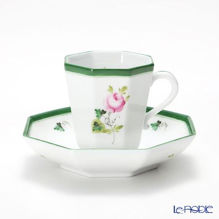 Herend Vienna Rose / Vieille Rose de Herend VRH 04307-0-00 Octagonal Mocha Cup & Saucer