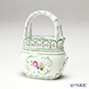 Herend 'Vienna Rose / Vieille Rose de Herend' VRH 07455-0-00 Basket (openwork with handle) H8.6cm