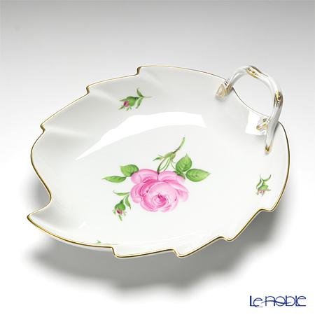 マイセン(Meissen) ピンクのバラ 020110/00265 リーフディッシュ 22×19cm