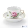 マイセン(Meissen) ピンクのバラ 020110/00580モカカップ&ソーサー