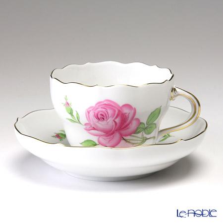マイセン(Meissen) ピンクのバラ 020110/00582コーヒーカップ&ソーサー 200cc