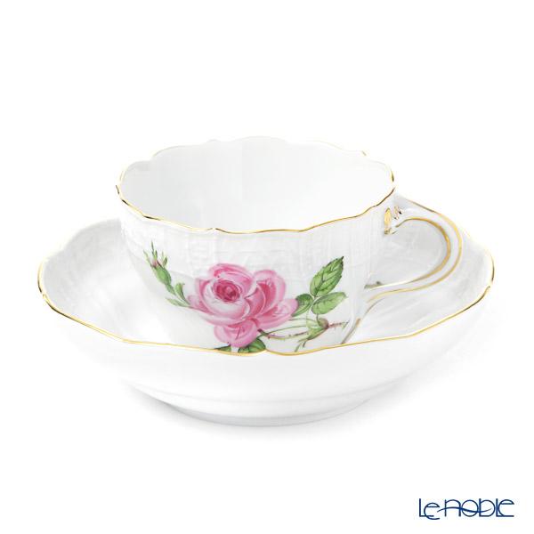 マイセン(Meissen) ピンクのバラ 020110/02582 コーヒーカップ&ソーサー 200cc