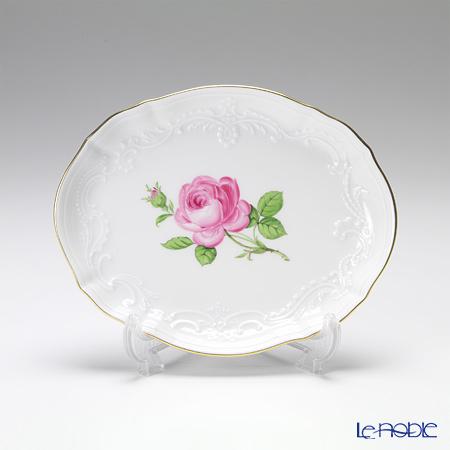 マイセン(Meissen) ピンクのバラ 020110/53608オーバルトレイ 16cm