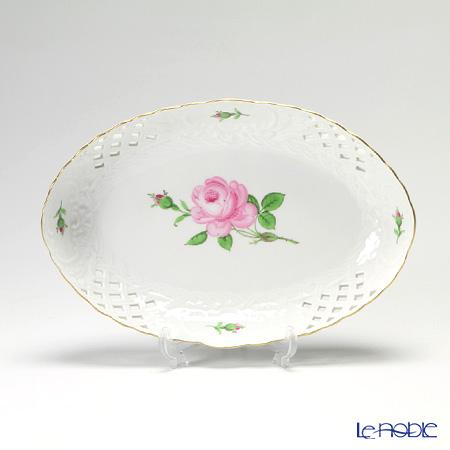 マイセン(Meissen) ピンクのバラ 020110/54907 レースボウル 楕円 25cm