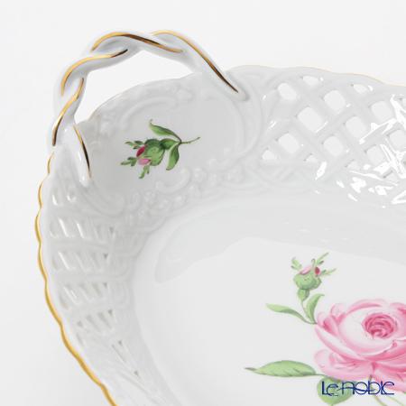 マイセン(Meissen) ピンクのバラ 020110/54909バスケット 25×18cm