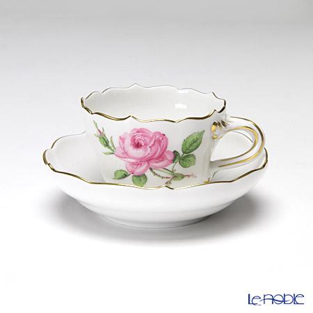 マイセン(Meissen) ピンクのバラ 020110/55300ギフトミニ カップ&ソーサー