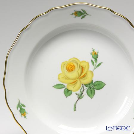 マイセン(Meissen) 黄色のバラ 020610/00501プレート 18cm