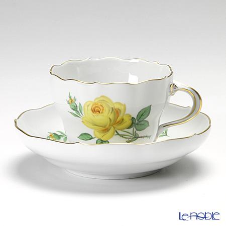 マイセン(Meissen) 黄色のバラ 020610/00582 コーヒーカップ&ソーサー 200cc