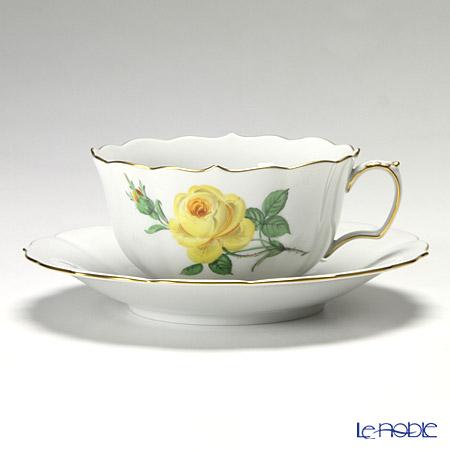 マイセン(Meissen) 黄色のバラ 020610/00633 ティーカップ&ソーサー 150cc