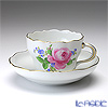 マイセン(Meissen) ピンクのバラ/忘れな草 020810/00582コーヒーカップ&ソーサー 200cc