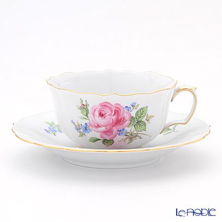 マイセン(Meissen) ピンクのバラ/忘れな草 020810/00633 ティーカップ&ソーサー 150cc