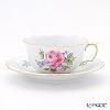 マイセン(Meissen) ピンクのバラ/忘れな草 020810/00633ティーカップ&ソーサー 150cc