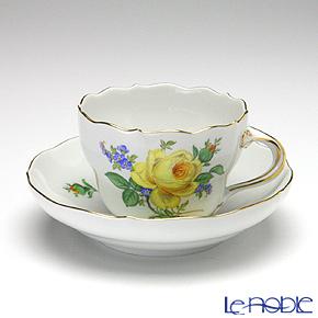 マイセン(Meissen) 黄色のバラ(忘れな草) 020910/00582コーヒーカップ&ソーサー 200cc