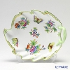 Herend 'Queen Victoria / Victoria avec Bord en Or' VBO 00201-0-00 Leaf shape Dish 23.5cm