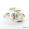 Herend 'Queen Victoria / Victoria avec Bord en Or' VBO 00707-0-00 Mocha Coffee Cup & Saucer 150ml