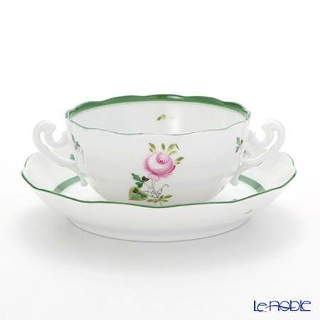 ヘレンド ウィーンのバラ 00718-0-00 スープカップ&ソーサー 180cc