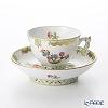 Herend Queen Victoria / Victoria avec Bord en Or VBO 03371-0-21 Mocha Cup & Saucer (Mandarin handle / openwork) 100ml