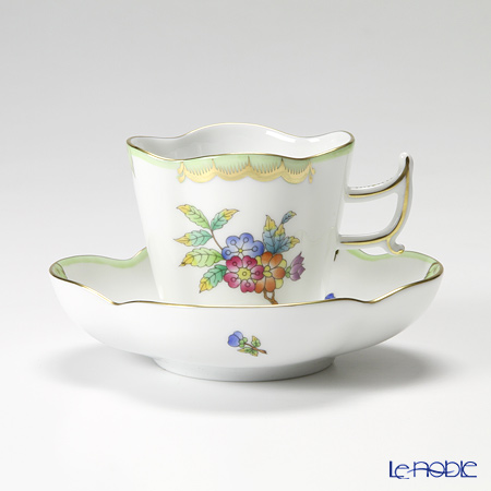 ヘレンド ヴィクトリア・ブーケ 04198-0-00コーヒーカップ&ソーサー(楕円) 100cc