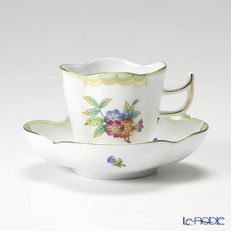 ヘレンド ヴィクトリア・ブーケ 04198-0-00 コーヒーカップ&ソーサー(楕円) 100cc