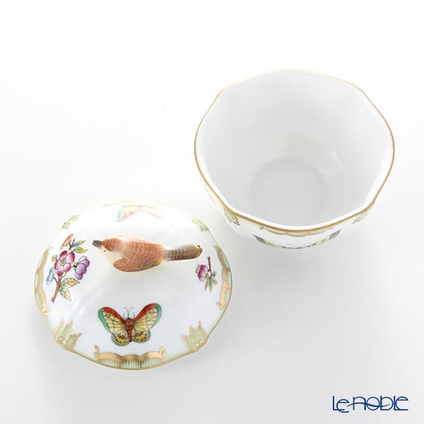 Herend 'Queen Victoria / Victoria avec Bord en Or' VBO 04246-0-05 Round Box (Bird knob) 8cm