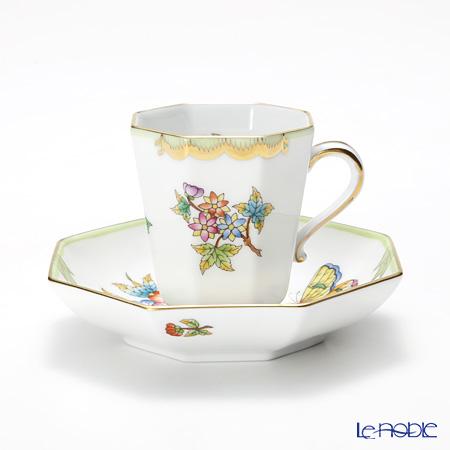 ヘレンド ヴィクトリア・ブーケ 04307-0-00 モカカップ&ソーサー(オクタゴナル)