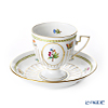 Herend 'Queen Victoria / Victoria avec Bord en Or' VBO 04467-0-00 Chocolate Cup (footed) & Saucer