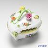 -Herend Victorian bouquet 06003-0-02 Heart shape box