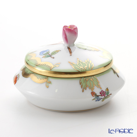 -Herend Victorian bouquet VBO 06027-0-12 Round box (tsbomi)-6.5 cm