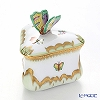 Herend 'Queen Victoria / Victoria avec Bord en Or' VBO 06079-0-17 Triangular Bonx (Butterfly knob) 7.5xH8.5cm