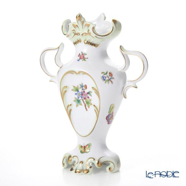 Herend 'Queen Victoria / Victoria avec Bord en Or' VBO 06532-0-00 Pedestal Vase with handles H25.8cm